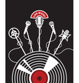 vinyl and microphones vector image