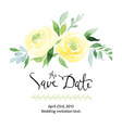 Watercolor yellow roses vector image