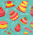 cake seamless pattern vector image