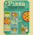 pizza italian menu vector image