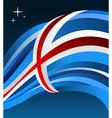 Iceland flag background vector image