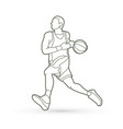 basketball player running vector image