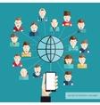 Social Communication Concept vector image