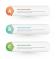 One Two Three steps progress banners vector image