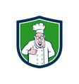 Chef Cook Thumbs Up Crest Cartoon vector image