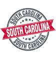 South Carolina red round grunge vintage ribbon vector image