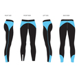 womens leggings template four sided view vector image