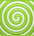 abstract green candy spiral background vector image