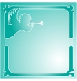 Angel with a pipe frame vector image