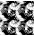 black and white tropical seamless pattern vector image