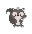 cute skunk cartoon icon vector image