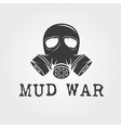 gas mask design template vector image