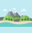 landscape water trees vector image