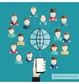 Social Communication Concept vector image