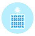 solar panel icon alternative energy resource vector image
