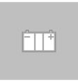 Car battery computer symbol vector image