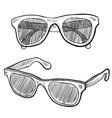 Doodle sunglasses famous vector image
