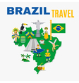 Brazil Culture Travel Agency Flat Poster vector image