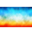 Colorful cloud background vector image vector image