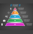 business infographics origami style pyramid vector image