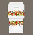 Floral envelope design vector image vector image