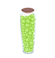 Fresh Four Leaf Clovers in A Bottle vector image