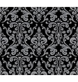 Seamless elegant damask pattern Grey and black vector image vector image
