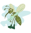 mosquito with syringe vector image