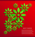 modern colorful flowers background vector image
