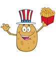 Uncle Sam Potato Cartoon vector image