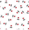 Glad Worker Flat Seamless Pattern vector image
