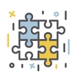 Puzzle icon isolated vector image