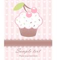 Cupcake newborn card vector image
