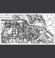 amsterdam holland map in black and white color vector image