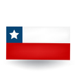Chilean Flag vector image