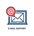 e-mail inbox - modern line icon vector image