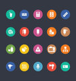 Glyphs Colored Icons 6 vector image