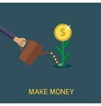 Make money vector image
