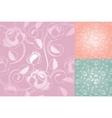 seamless roses pattern wallpaper set vector image