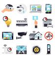 smart home icon set vector image