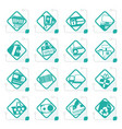 stylized online shop e-commerce and web site icon vector image