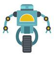 blue cyborg on wheel icon isolated vector image