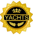 yachts gold icon vector image