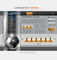 hitech style business website vector image