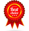 best choice label with ribbons vector image vector image
