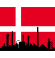 industry and flag of denmark vector image