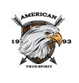 American True Spirit Emblem vector image