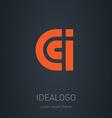 C C and I initial logo C C and I initial monogram vector image