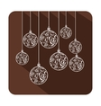 Christmas tag ornament vector image