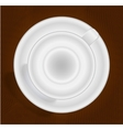 Empty cup for coffee or tea top view vector image